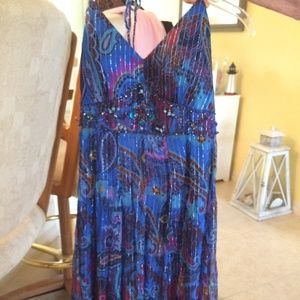 SUE WONG NWT Beaded and Embellished Cocktail Dress